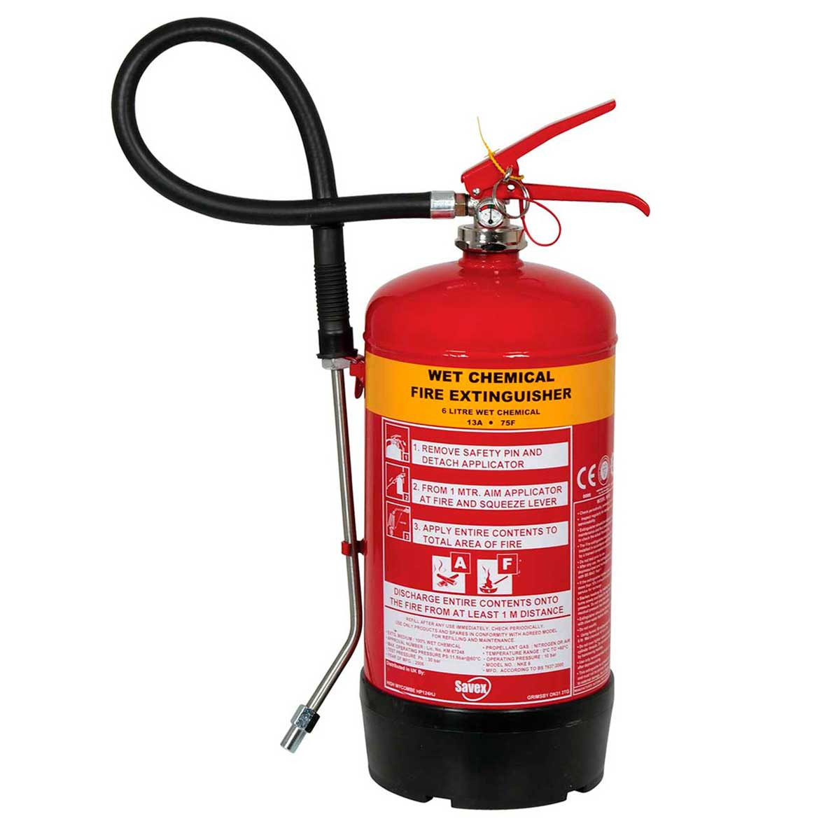 6 litres Wet Chemical Fire Extinguisher