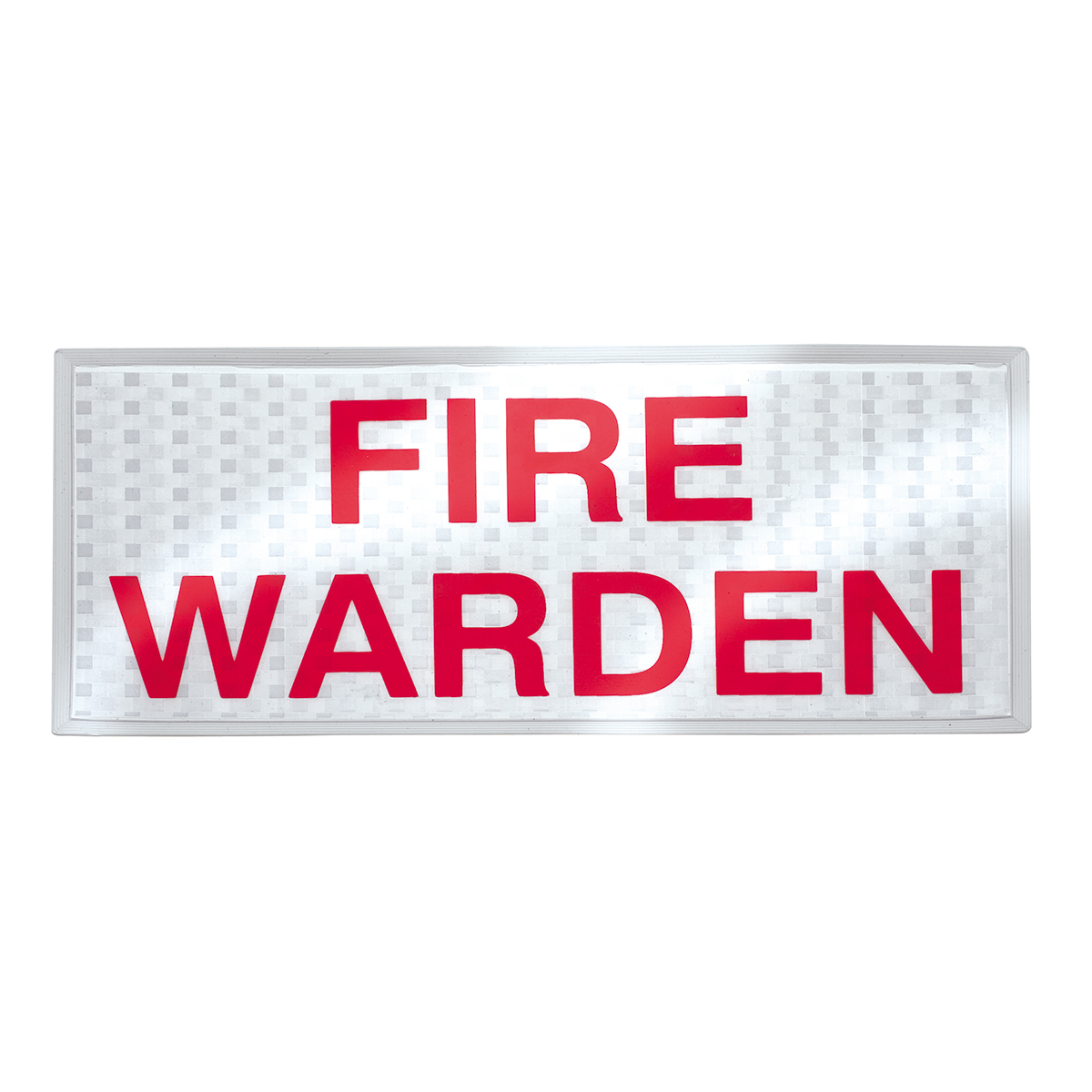 Fire Warden Reflective Badge Set