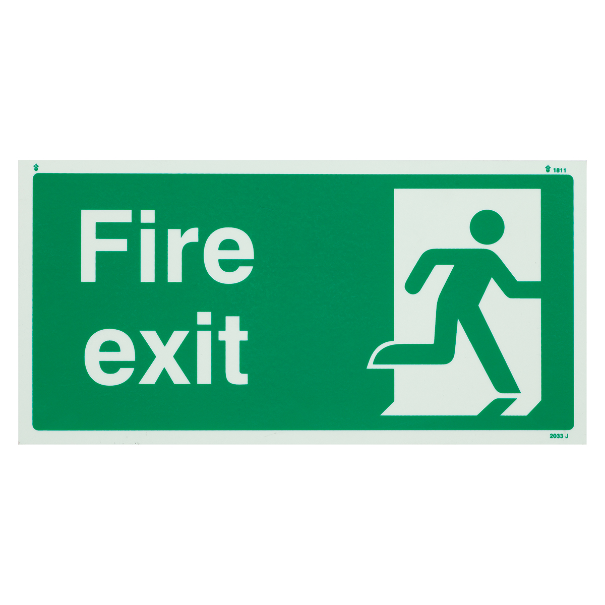 Fire Exit Photoluminescent Sign