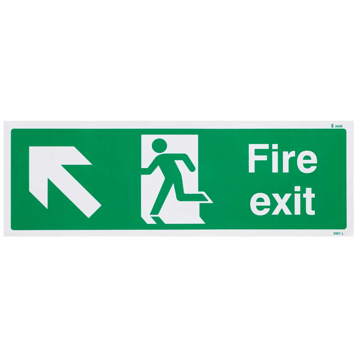 Up Left British Standard Fire Exit Signs