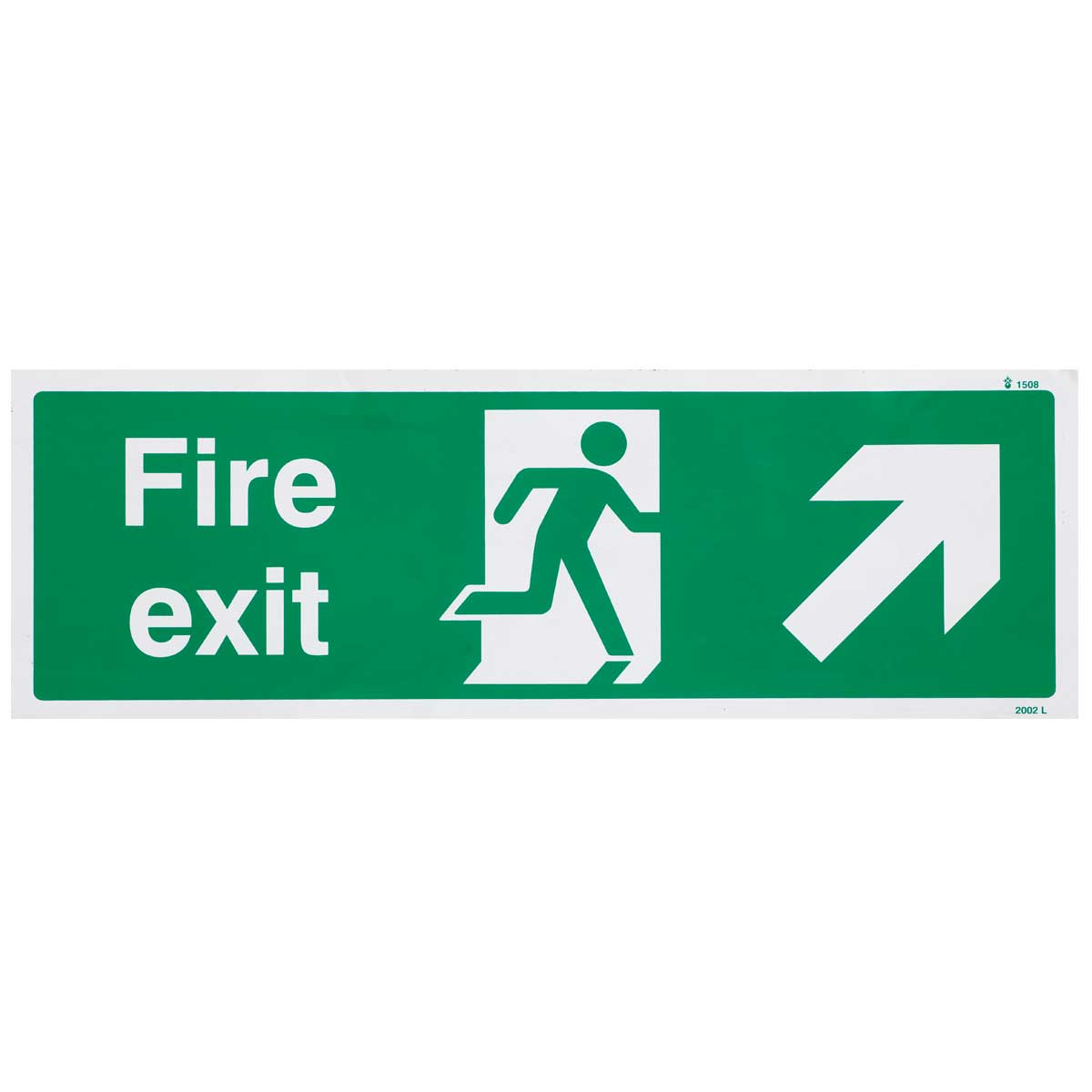 Up Right British Standard Fire Exit Sign