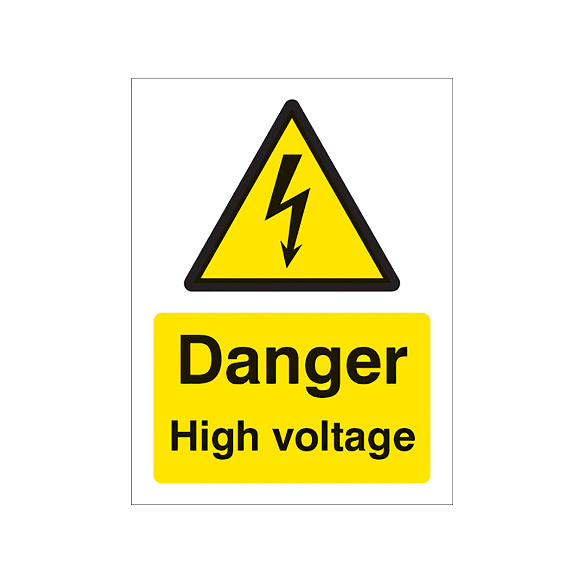 High Danger Voltage Sign