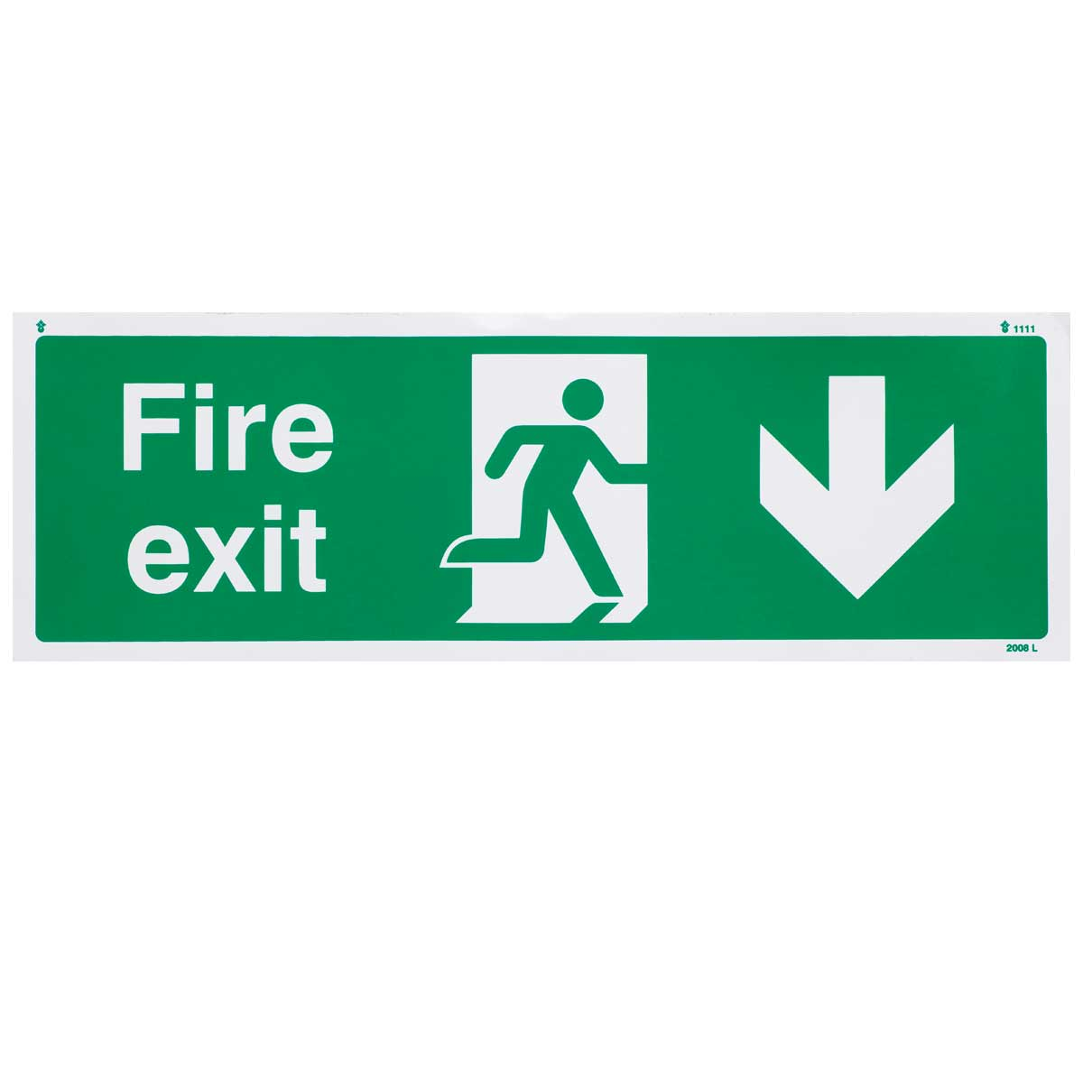 Down Fire Exit Sign