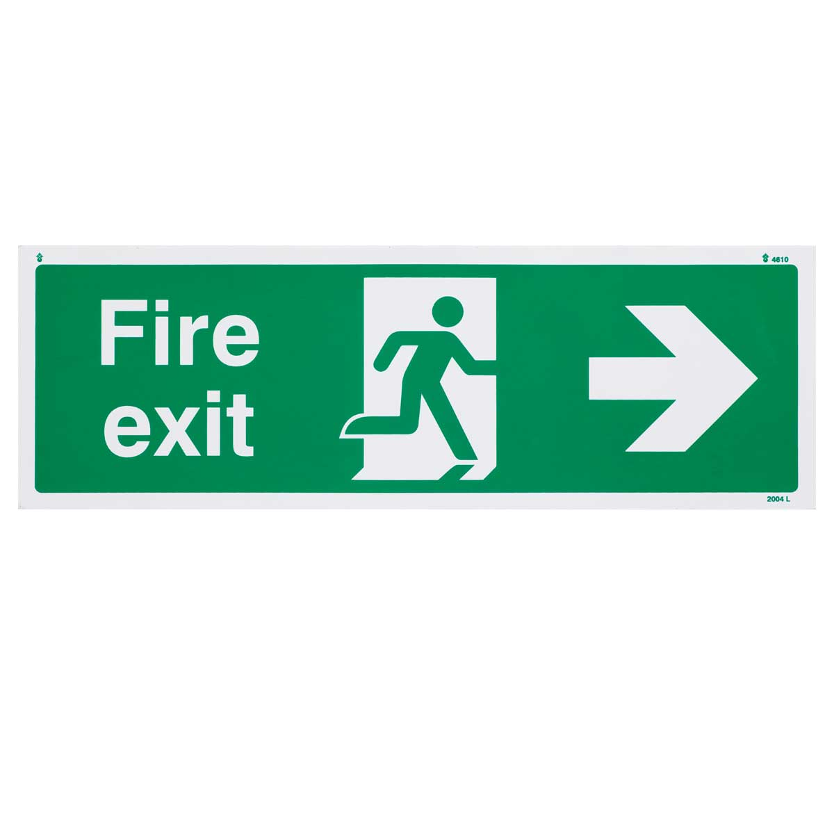 Right Fire Exit Sign