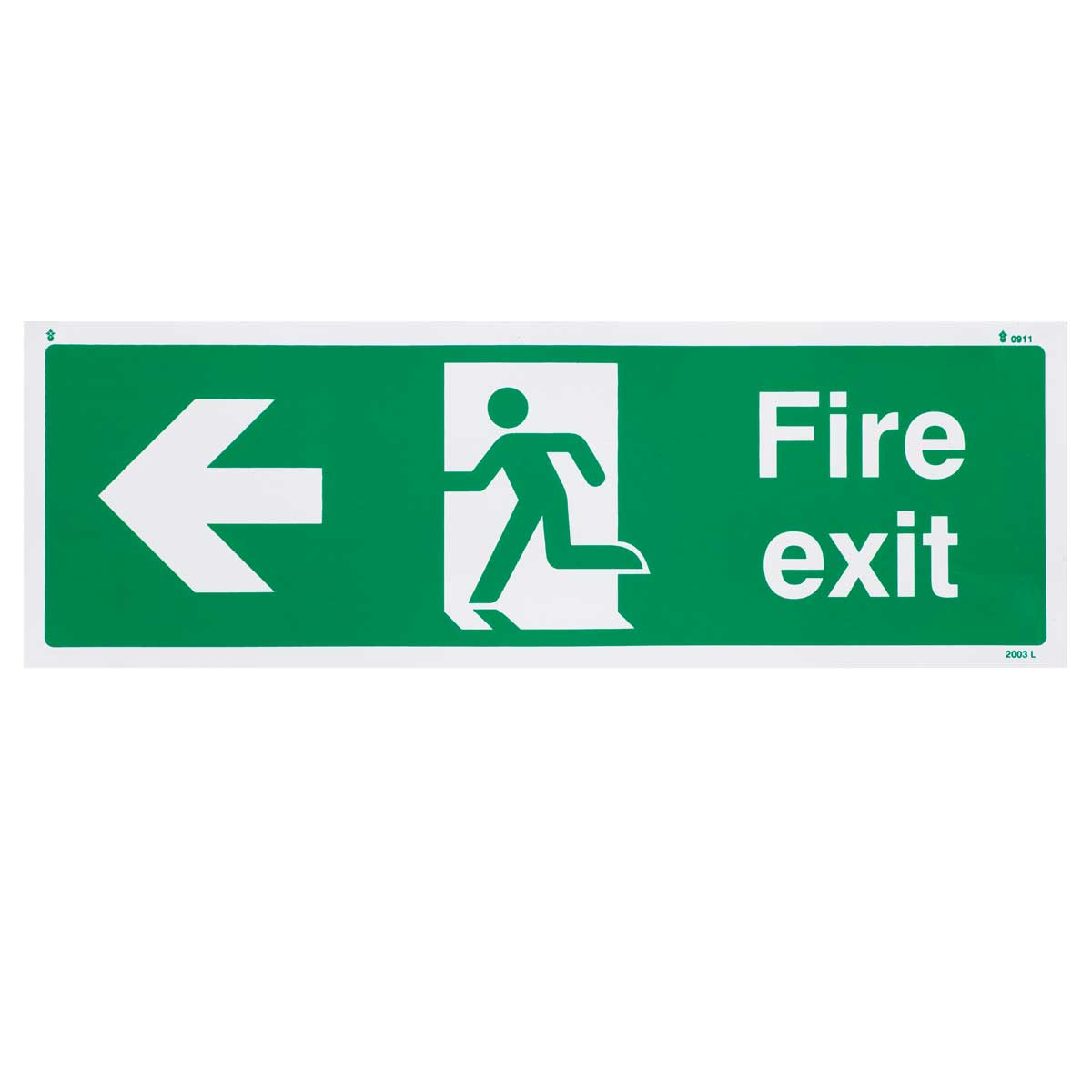 Left Fire Exit Sign