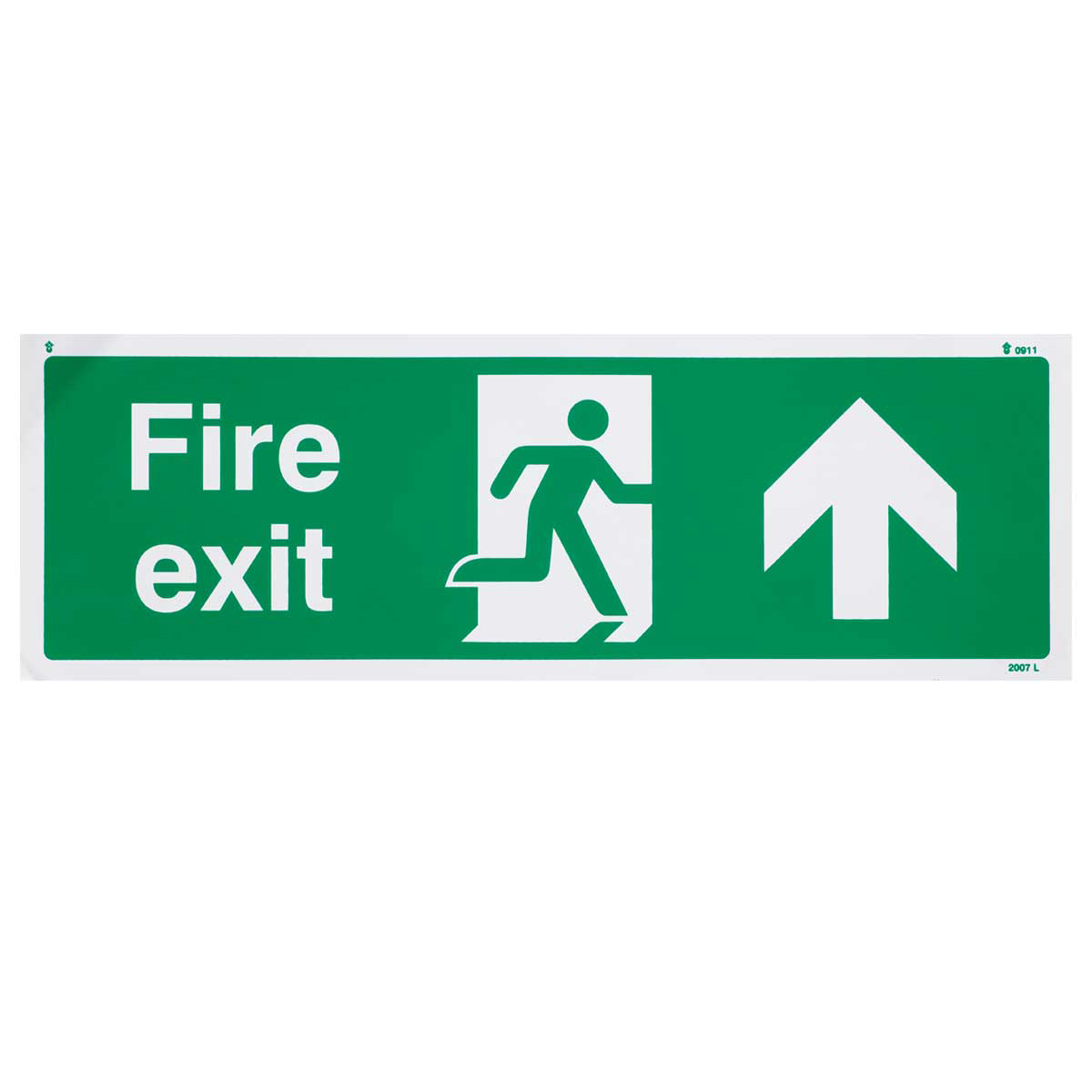 Up Fire Exit Sign