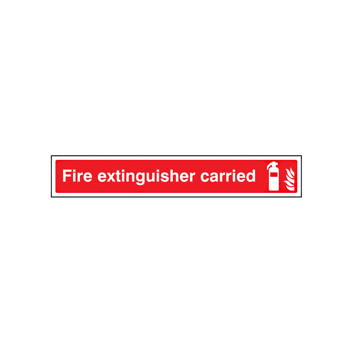 Fire Extinguisher Carried Vehicle Sign