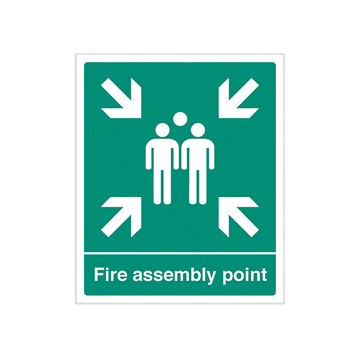 Rigid Plastic Fire Assembly Point Sign