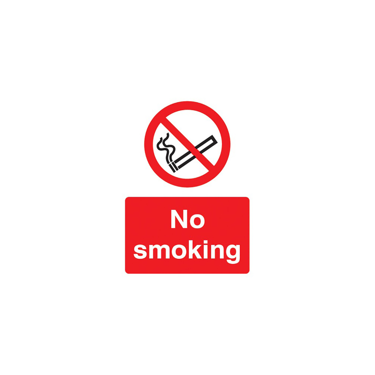No Smoking Vinyl Sign