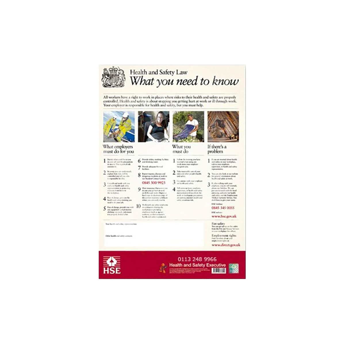 Health and Safety Law Poster 2009