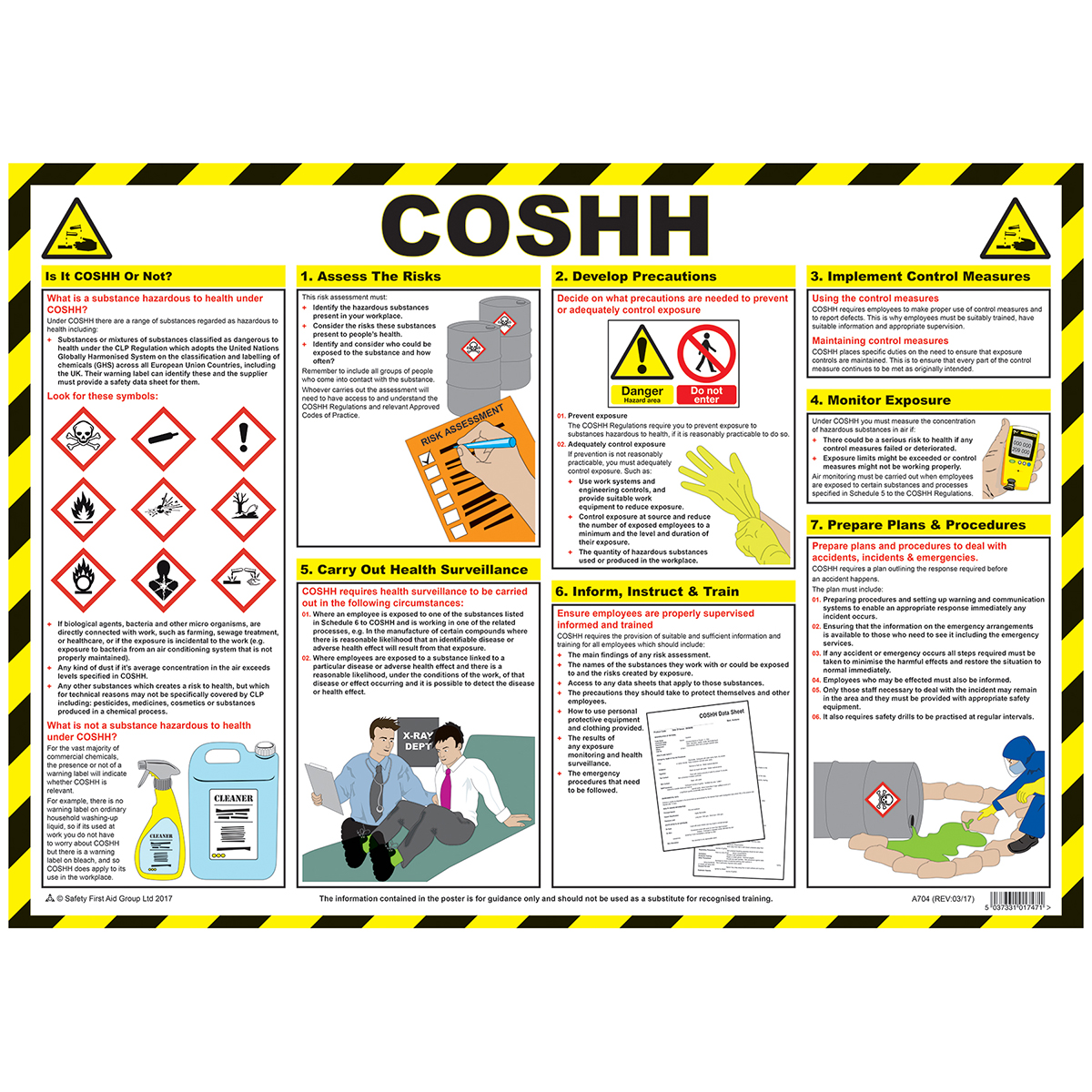 COSHH Poster, 2017