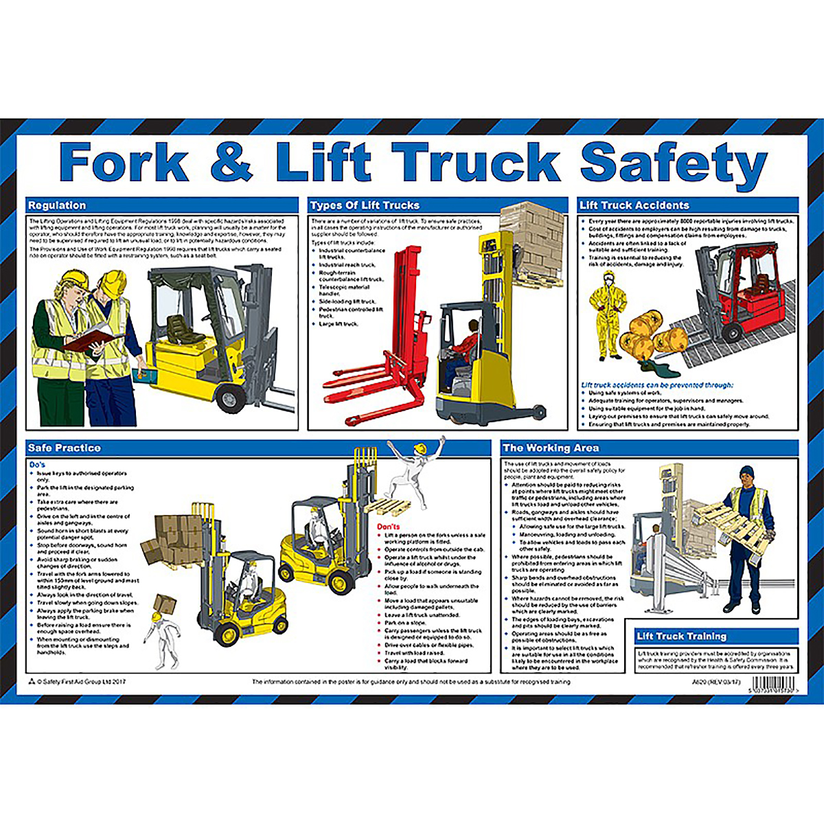 Fork and Lift Truck Safety Poster