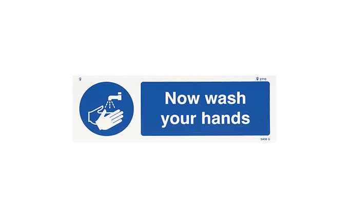 Now Wash Your Hands Vinyl Sign