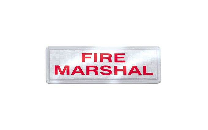 Fire Marshal Reflective Badge Set