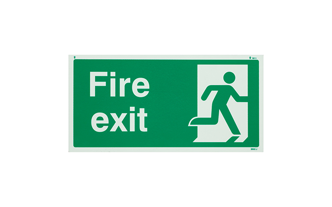 Fire Exit Photo-luminescent Sign