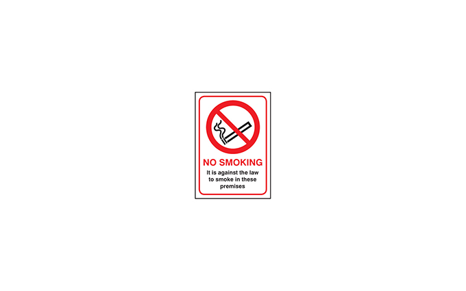 No Smoking Vinyl Signs