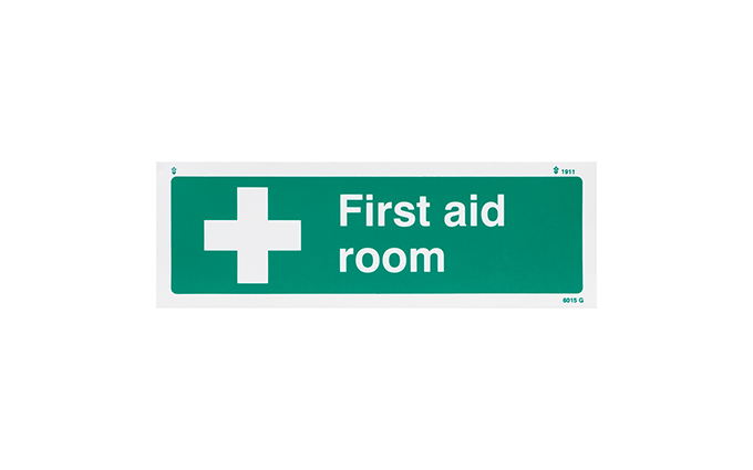 First Aid Room Vinyl Sign