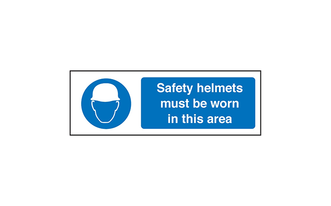 Safety Helmet Vinyl Sign
