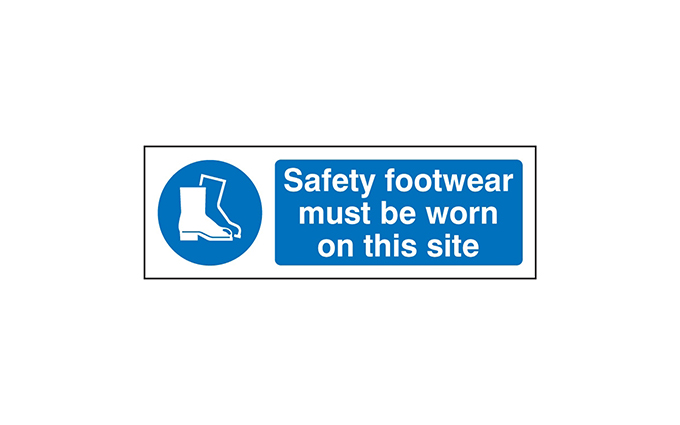 Safety Footwear Vinyl Sign
