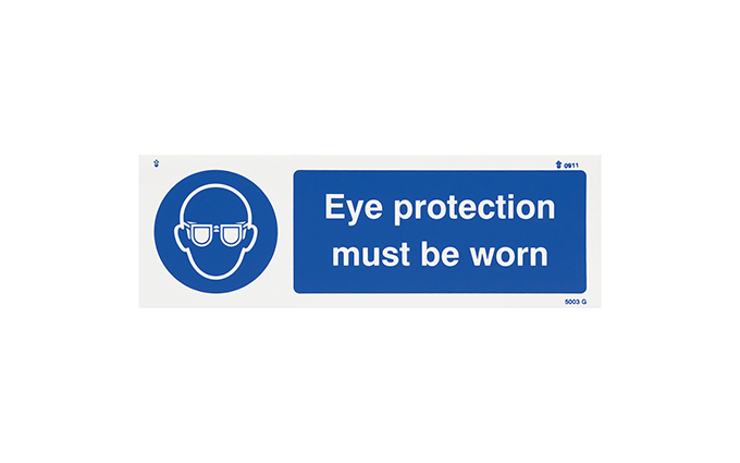 Eye Protection Vinyl Sign
