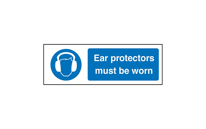 Ear Protection Vinyl Sign