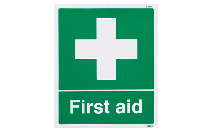 First Aid Vinyl Sign