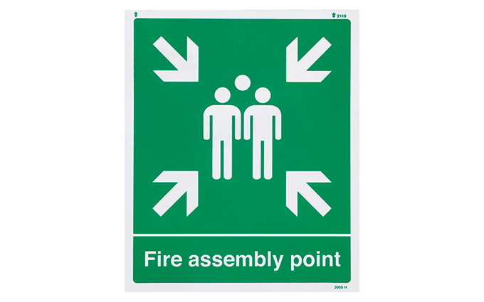 Fire Assembly Point Vinyl Sign