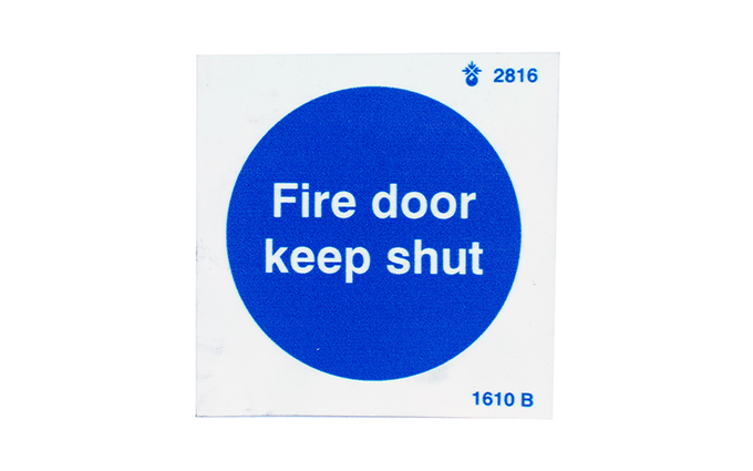 Fire Door Keep Shut Photoluminescent Vinyl Sign