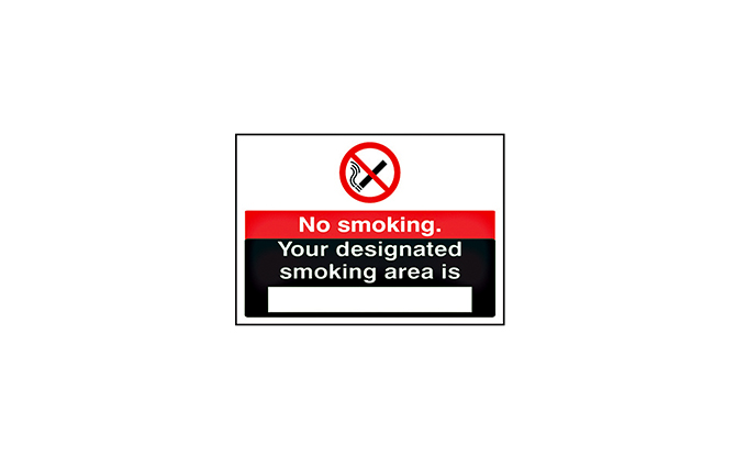 Designated Smoking Area Vinyl Sign