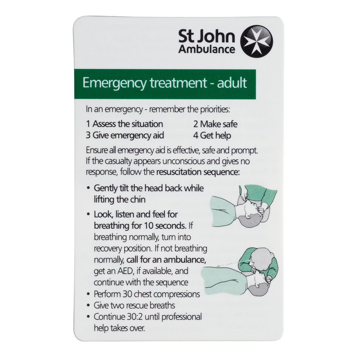 Emergency Treatment Card