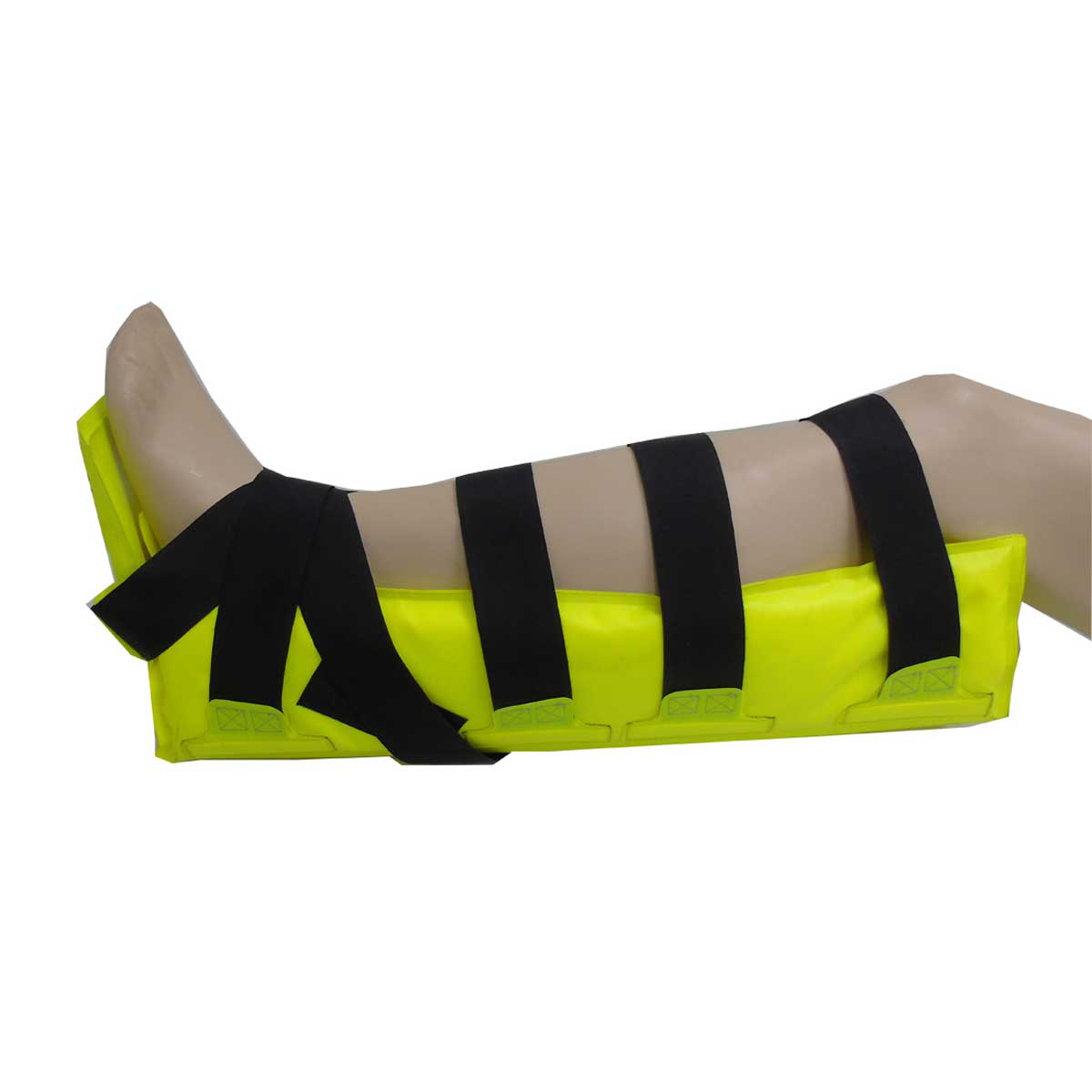 Medium Leg Box Splint showing leg position
