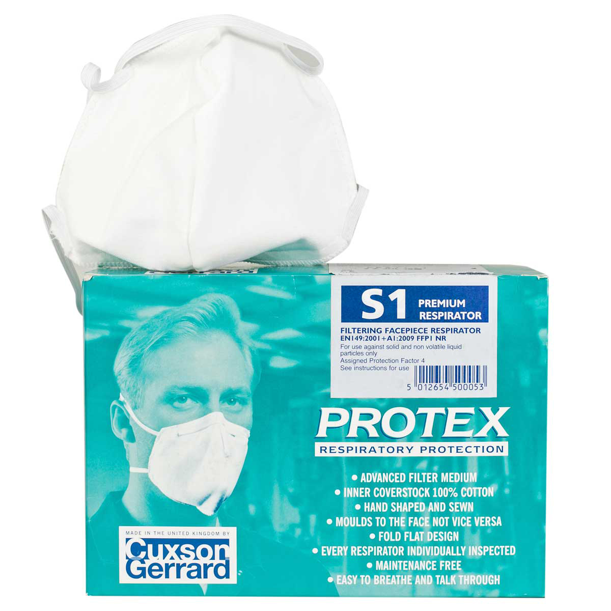Pack of 25 Protex S1 Respiratory Mask