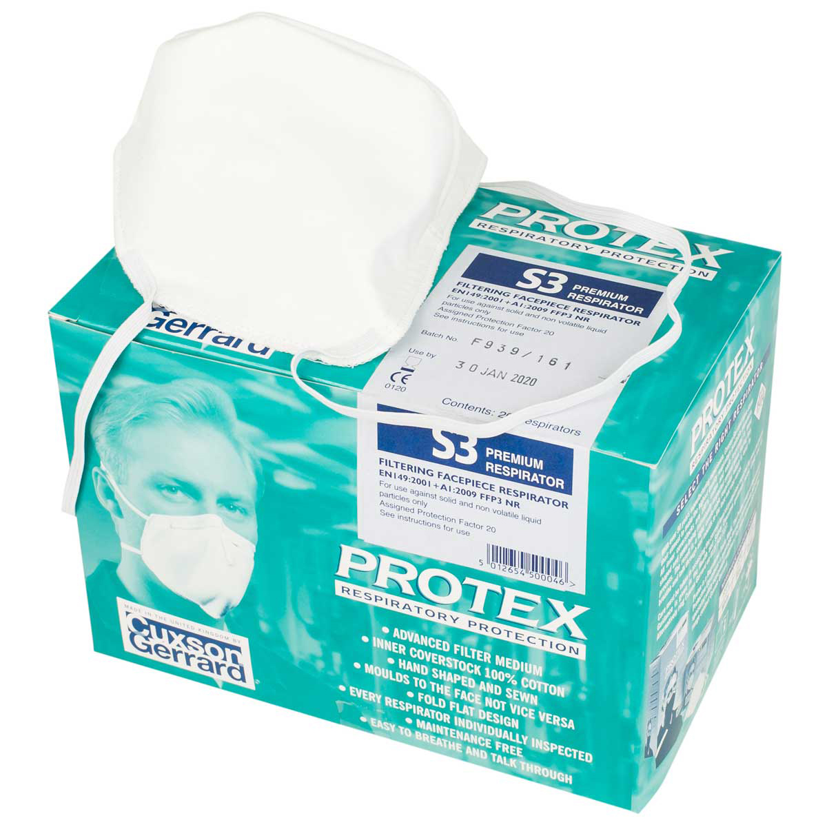 Pack of 20 Protex S3 Respiratory Mask