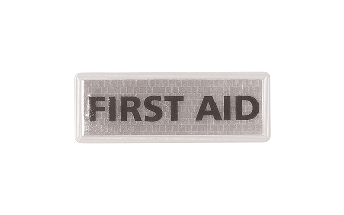 Large First Aid Reflective Badge