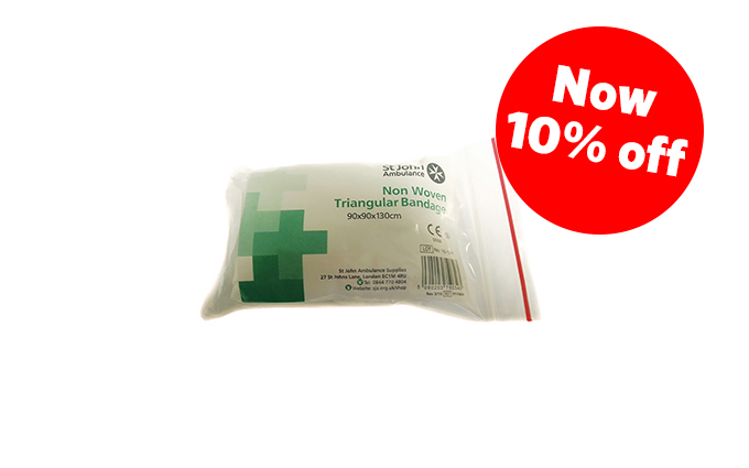 90cm x 90cm x 130cm St John Ambulance Disposable Triangular Bandage