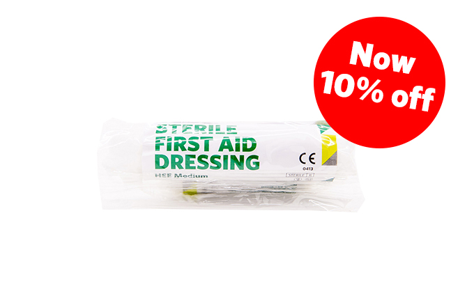 12cm x 12cm Medium St John Ambulance HSE First Aid Dressing
