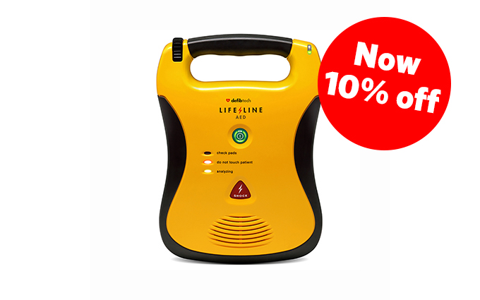 Defibtech Lifeline AED Semi-Automatic Defibrillator with 7 Year Battery Pack
