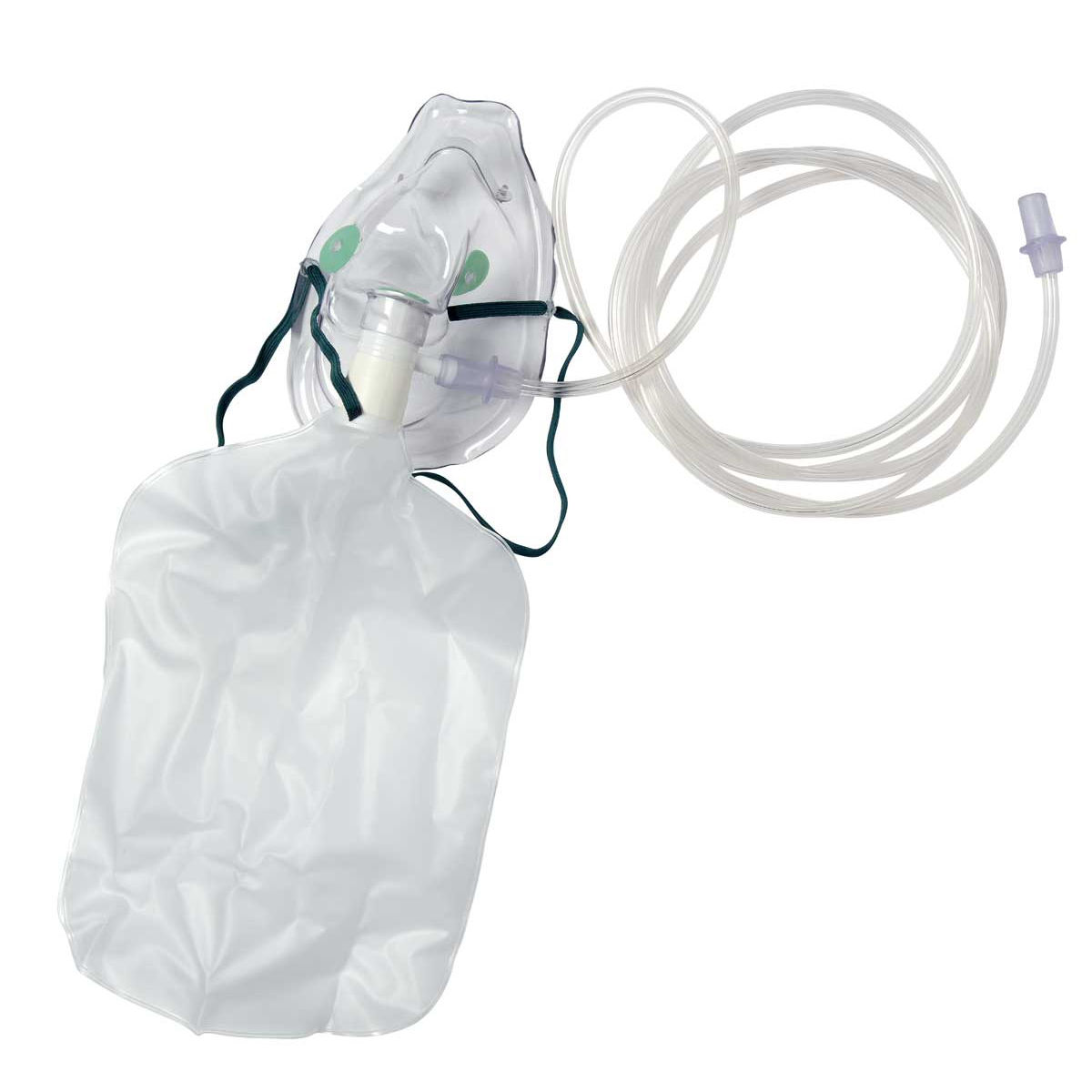 Adult High Concentration Non-Rebreathing Oxygen Mask and Tubing