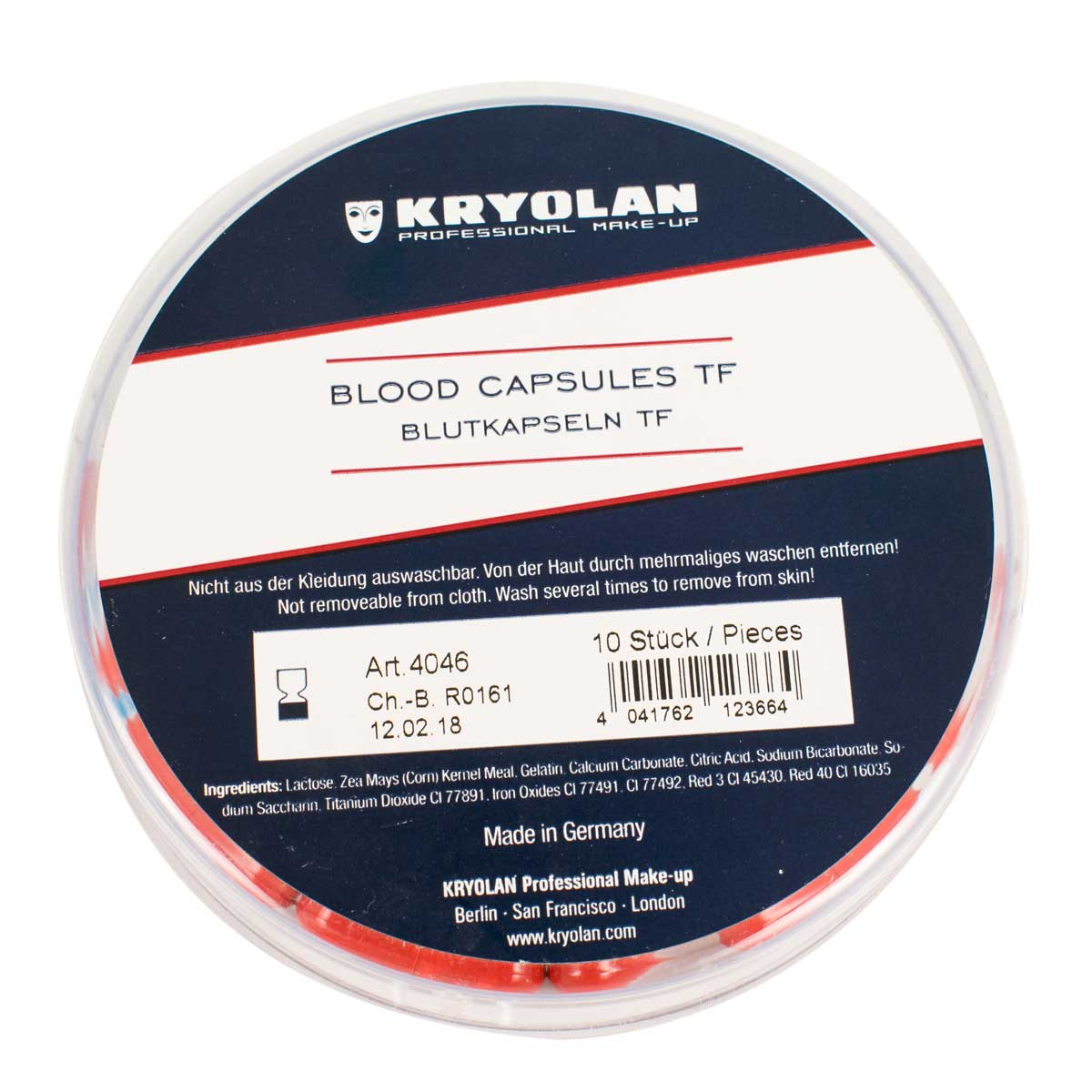 Pack of 10 Blood Capsules