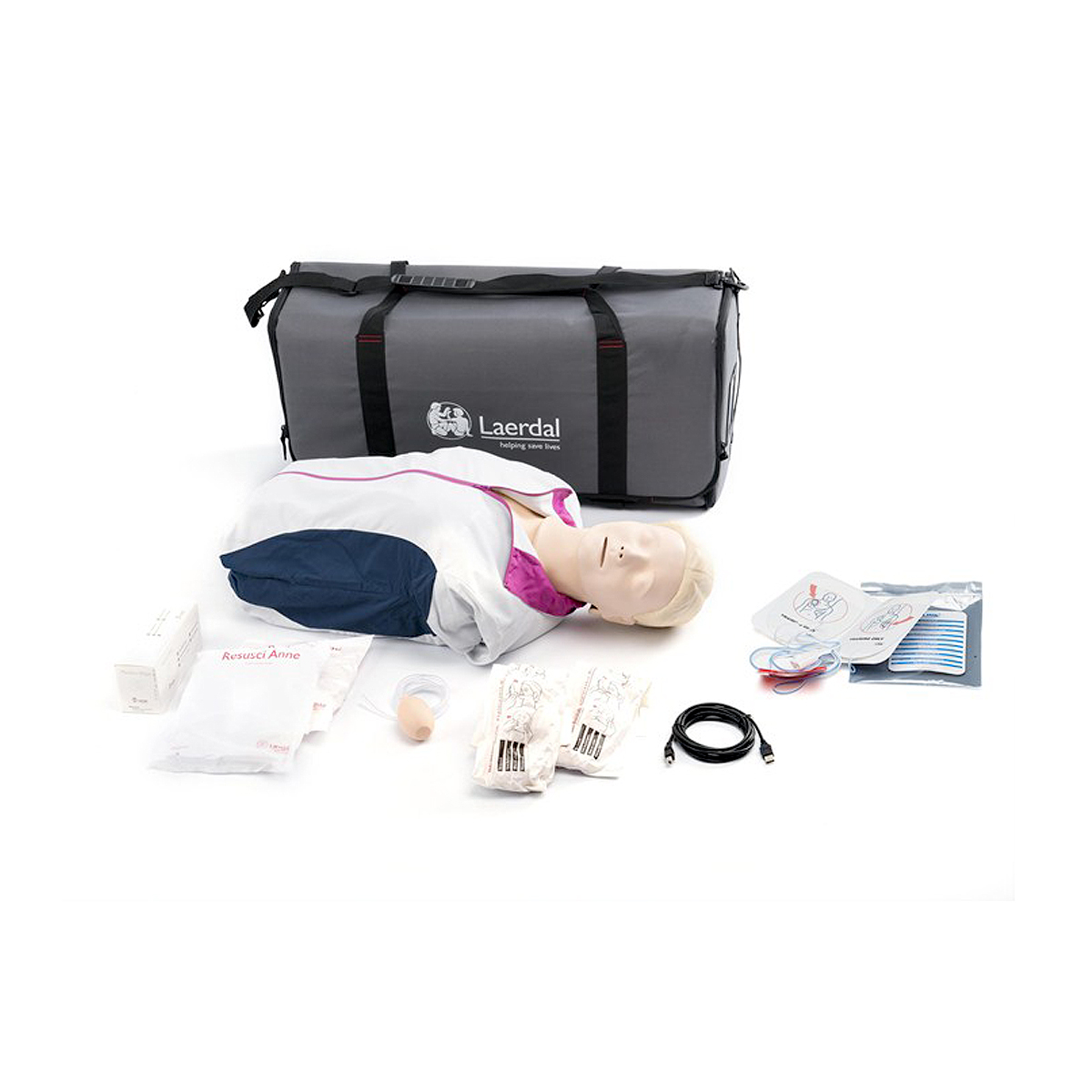 Laerdal Resusci® Anne QCPR AED Torso with Carry Bag and Mat