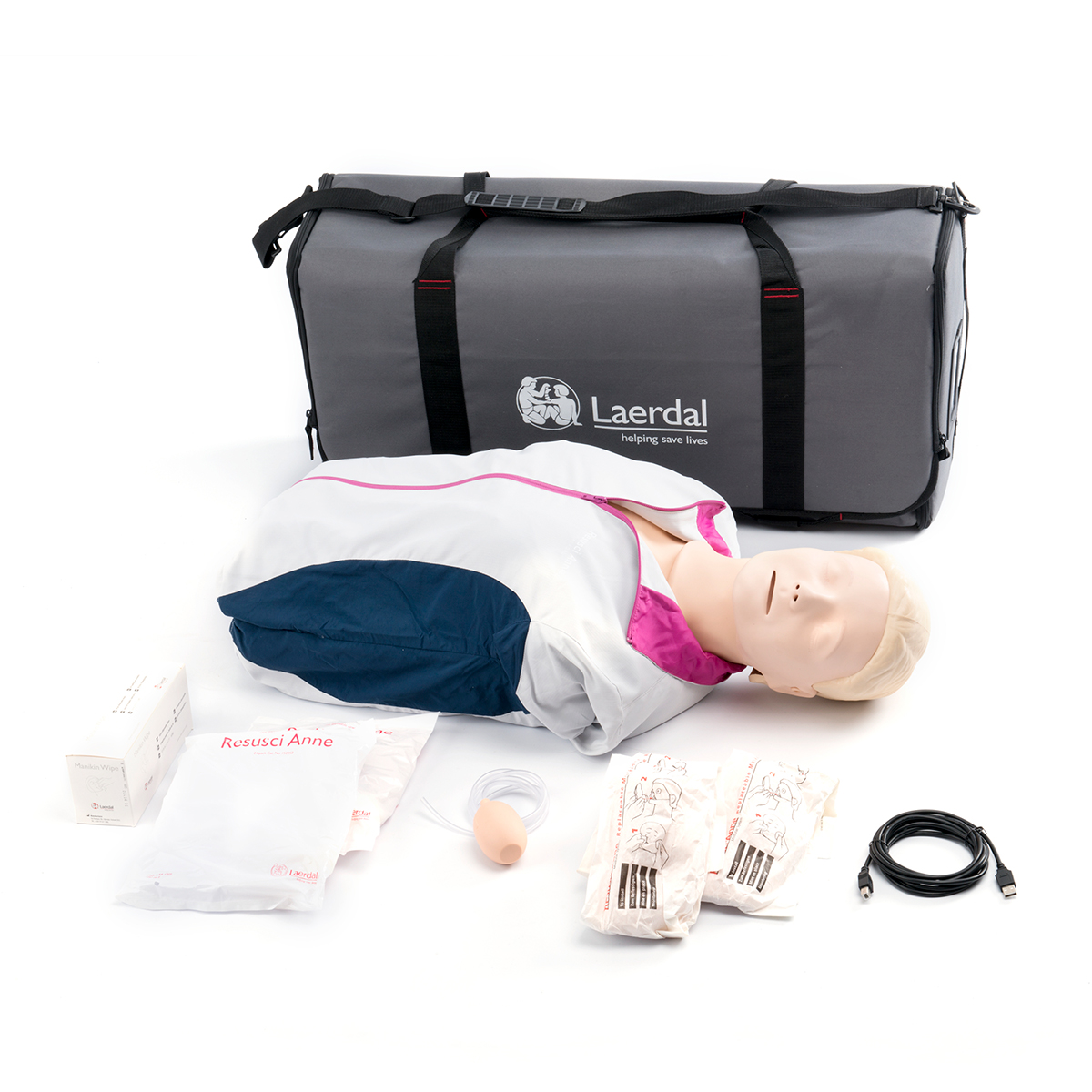 Laerdal Resusci® Anne QCPR First Aid Torso with Carry Bag and Mat