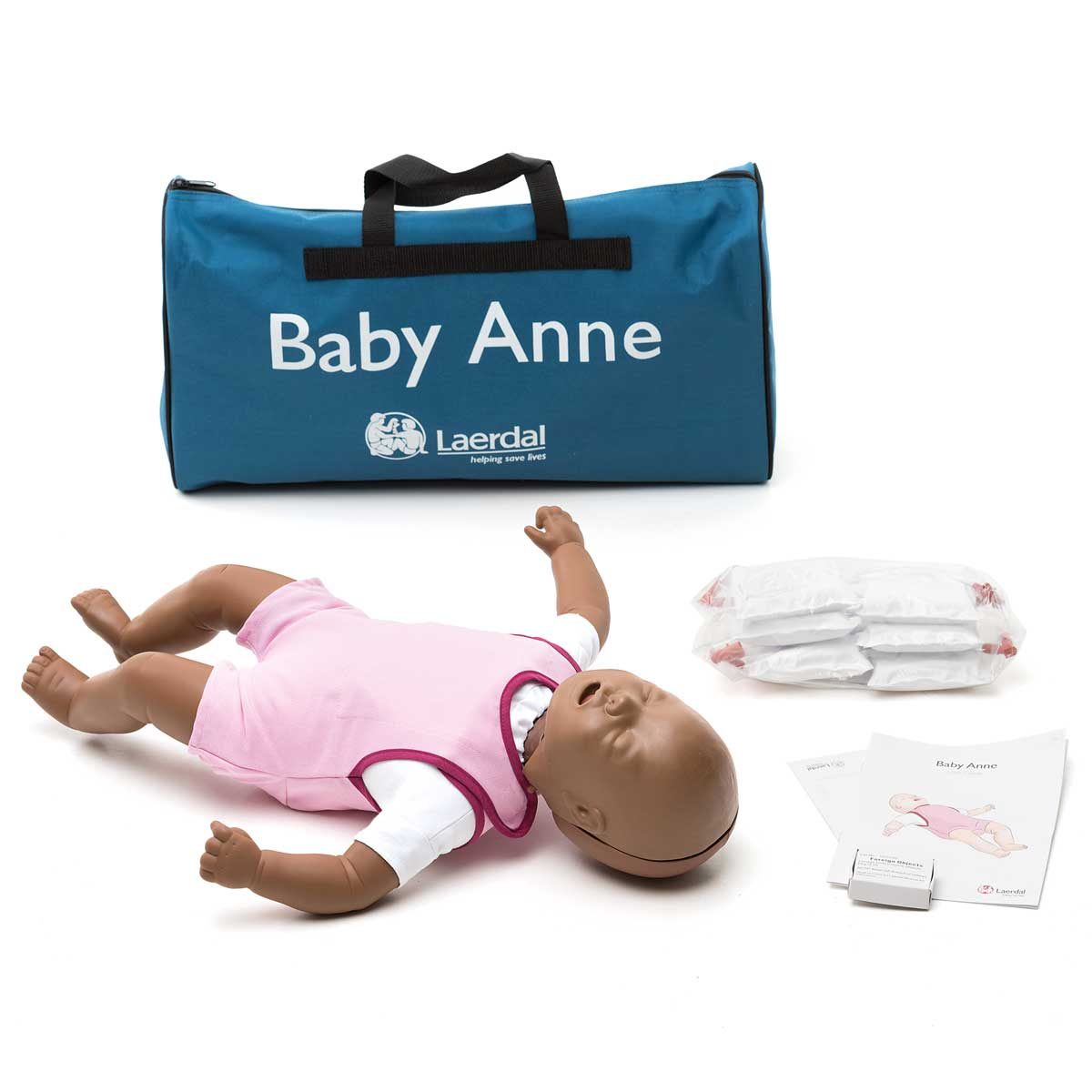Dark Skin Laerdal Baby Anne™ CPR Training Manikin