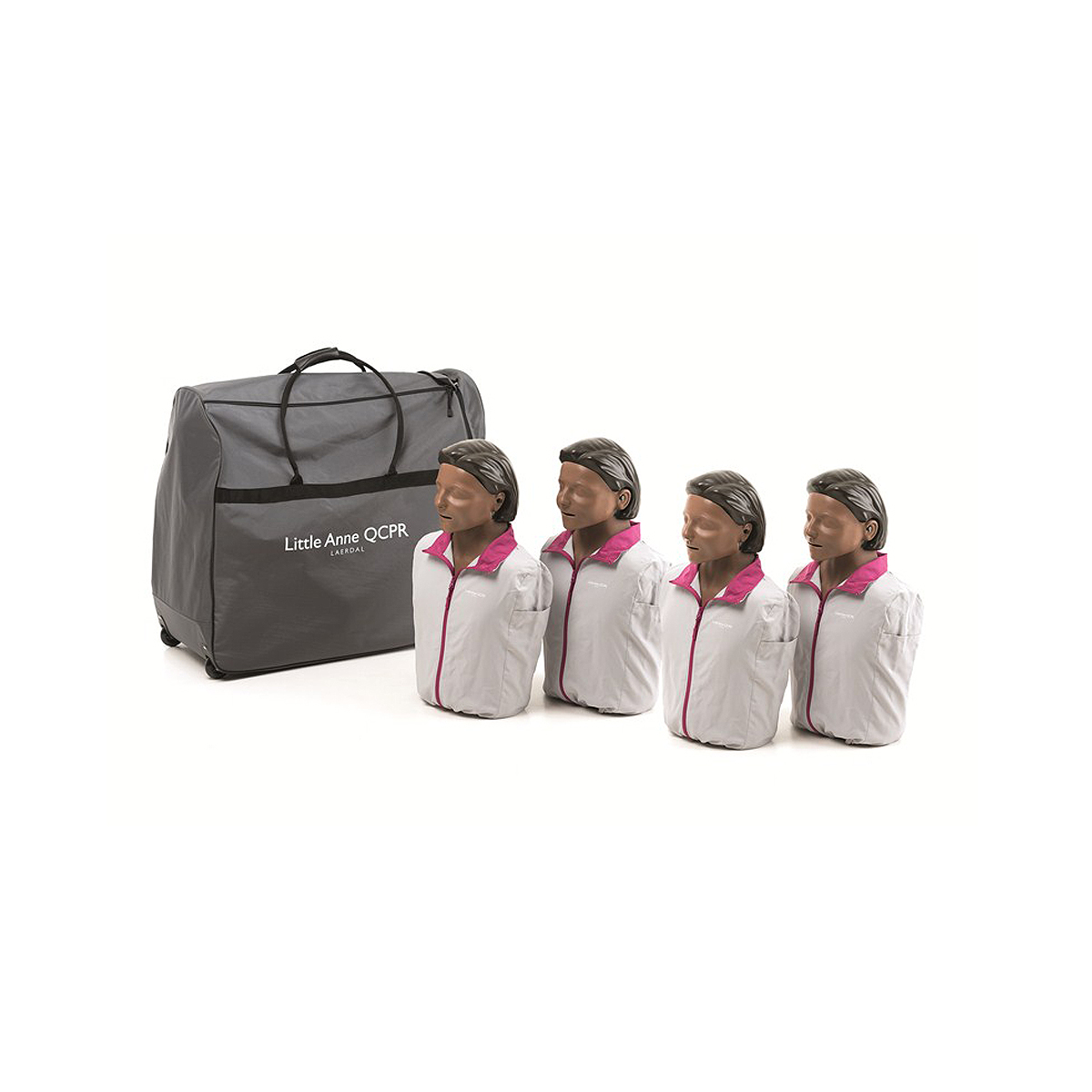 Pack of 4 Dark Skin Laerdal Little Anne™ QCPR Training Manikin