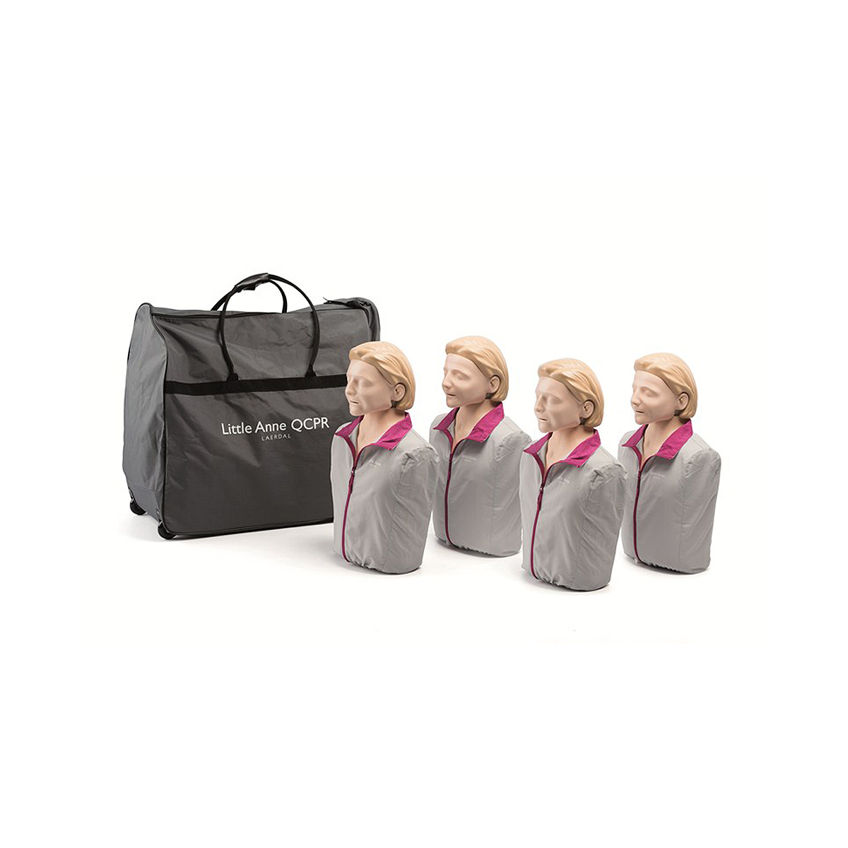Pack of 4 Light Skin Laerdal Little Anne™ QCPR Training Manikin