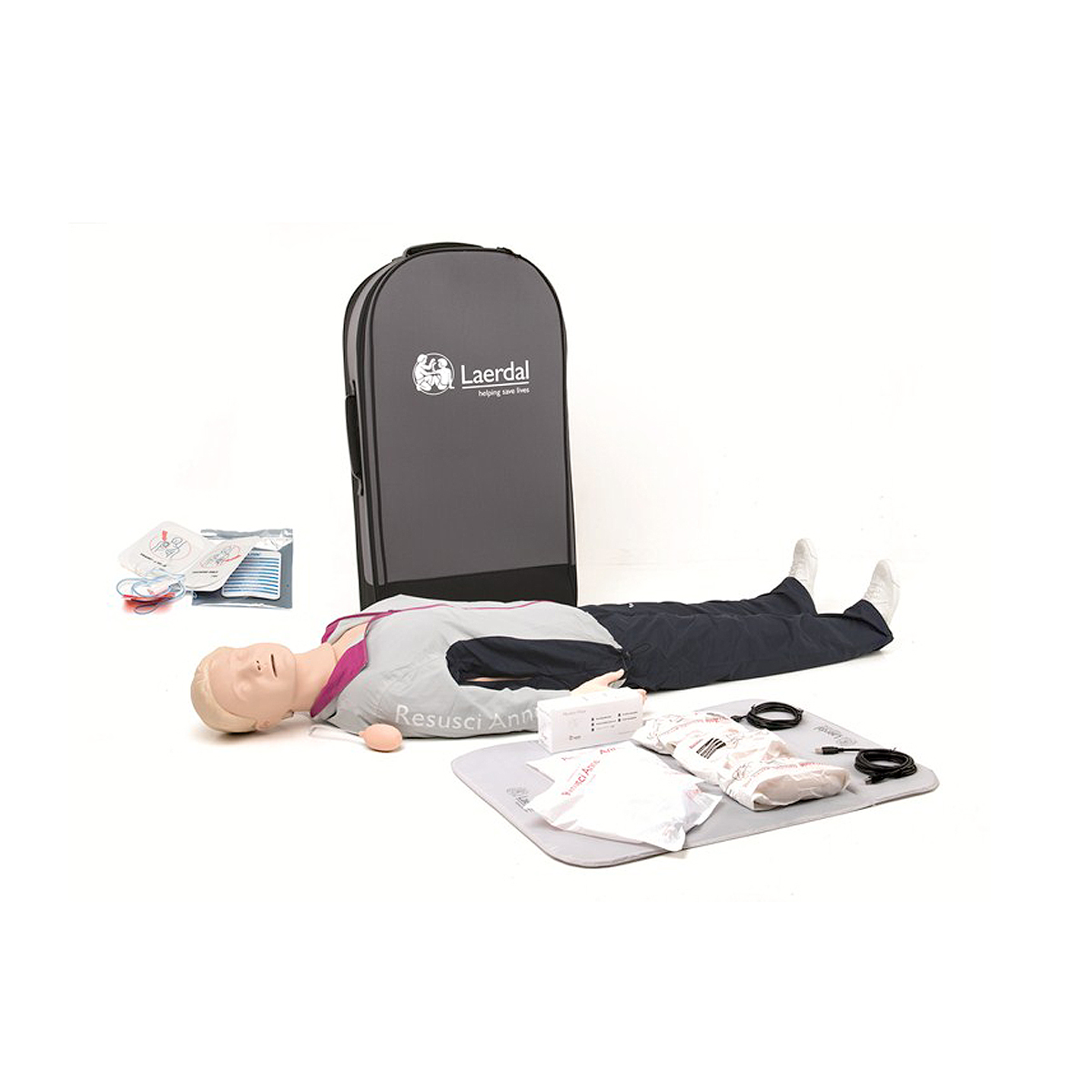 Laerdal Resusci® Anne QCPR AED Full Body with Trolley Case