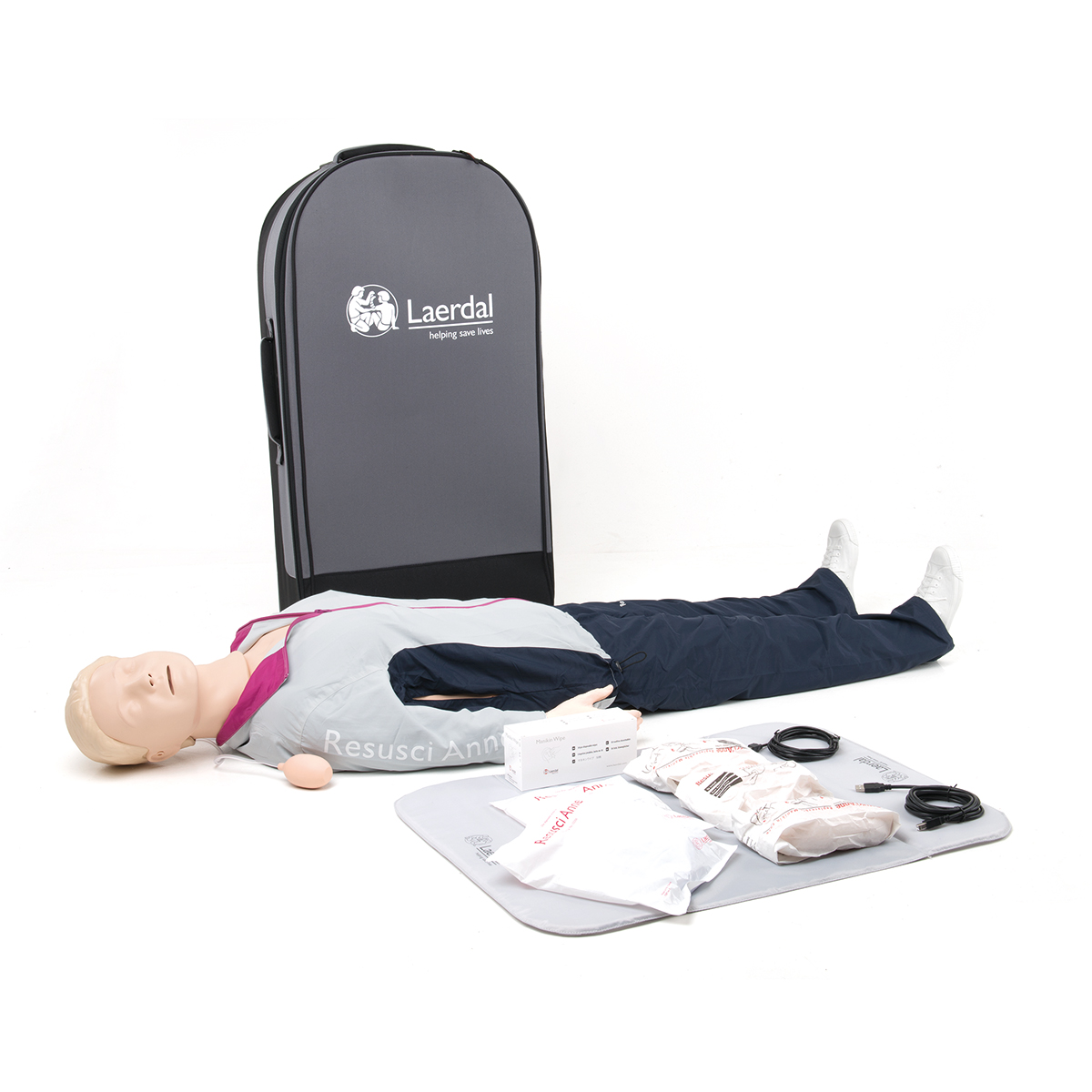 Laerdal Resusci® Anne QCPR First Aid Full Body with Trolley Case