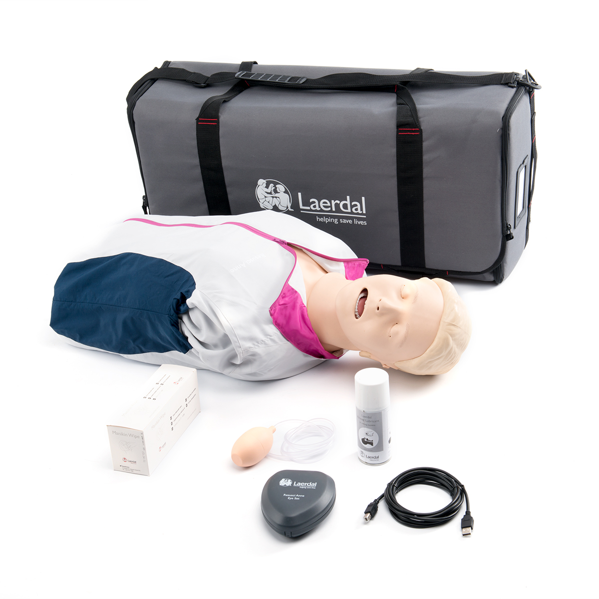 Laerdal Resusci® Anne QCPR AIIrway Head First Aid Torso with Carry Bag and Mat