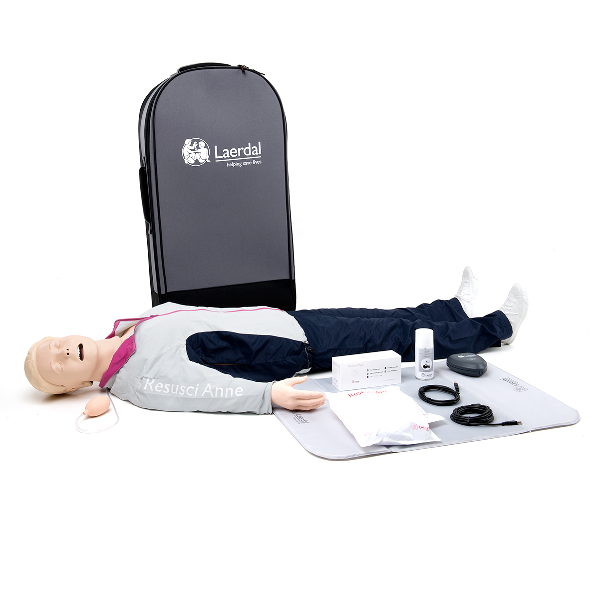 Laerdal Resusci® Anne QCPR Airway Head Full Body with Trolley Case