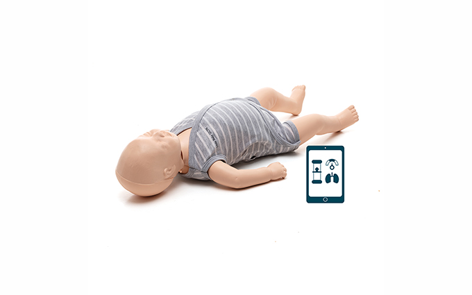 Realistic, durable and affordable light skin infant training manikin with QCPR technology