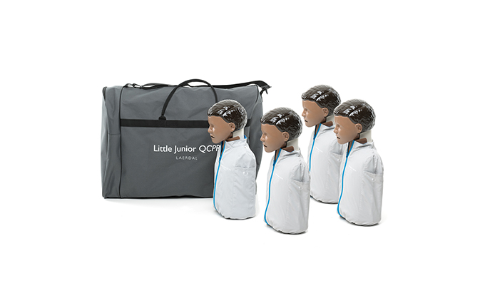 Pack of 4 Laerdal Little Junior™ QCPR Dark Skin Training Manikin